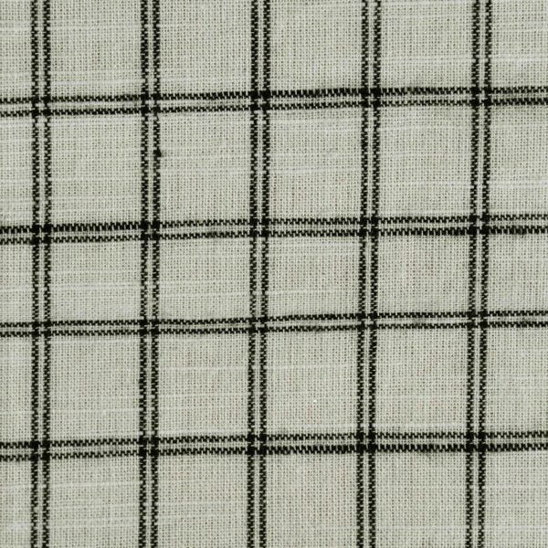 Cotton Black Checked Yarn Dyed Fabric
