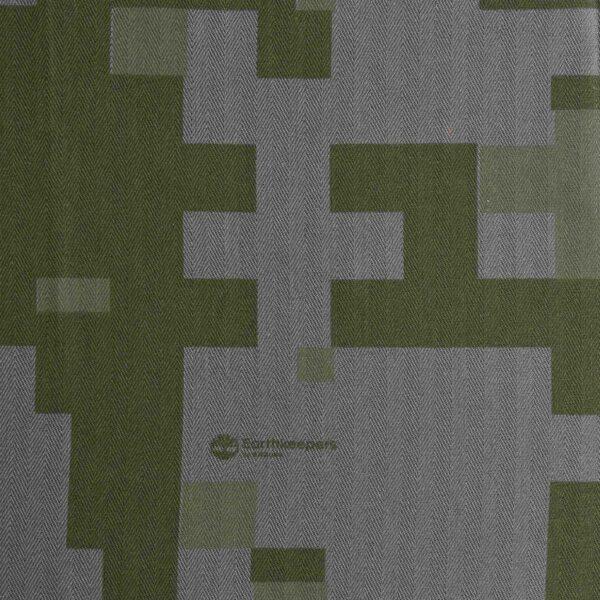 Poly Cotton Grey Base Pixel Print Fabric
