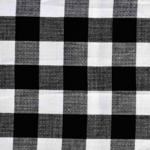 Cotton Black Checked Yarndyed Fabric