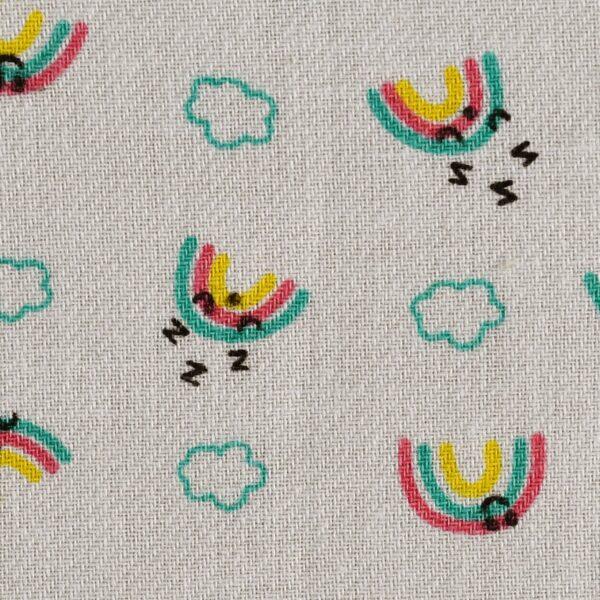 Cotton Multi Color Rainbow Print Fabric