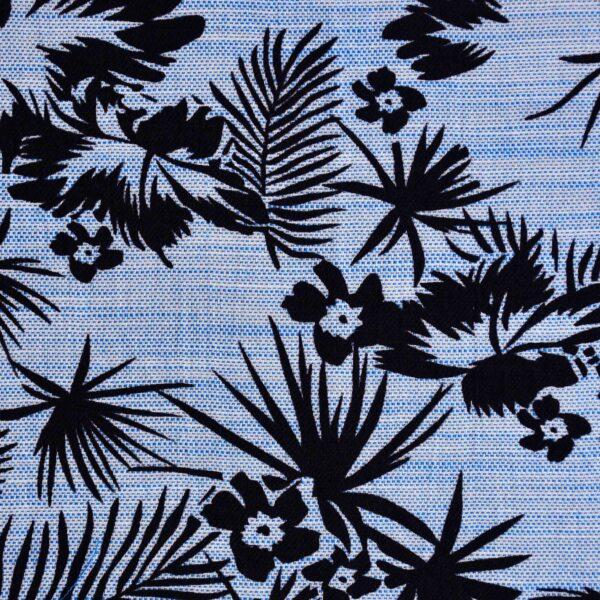 Cotton Blue Base Flower Print Fabric