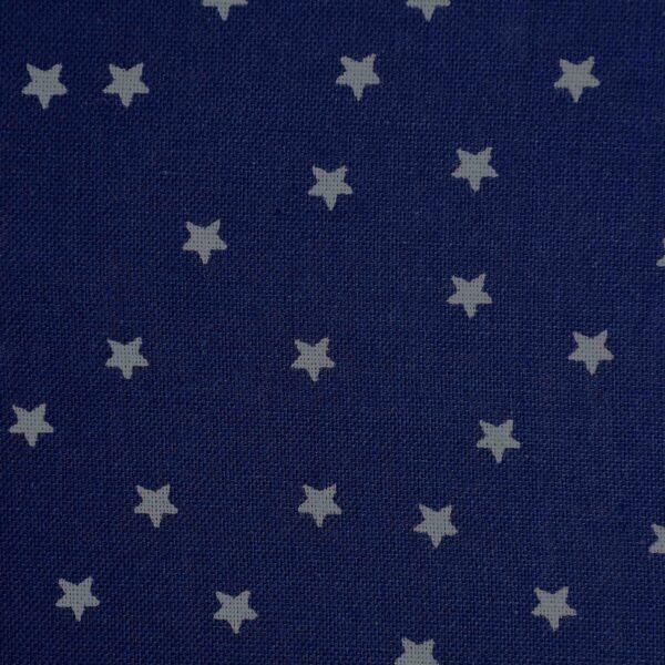 Cotton Navy Base Star Print Fabric