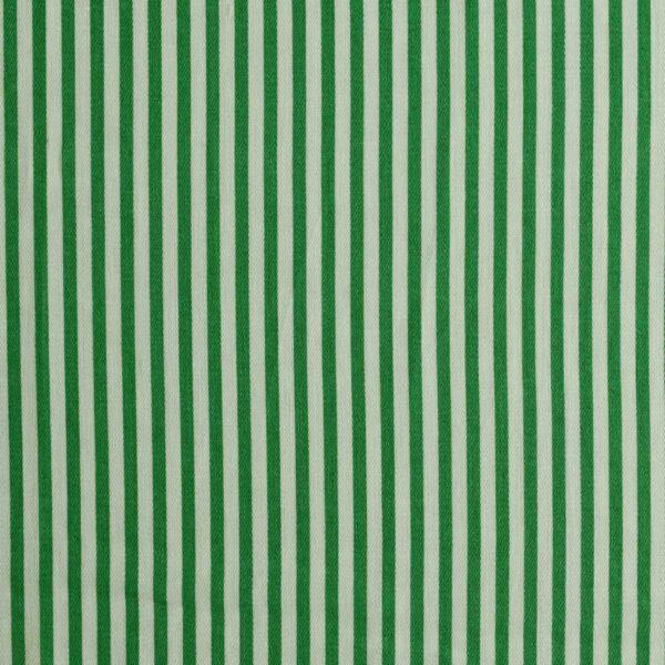Cotton Green Stripe Print Fabric