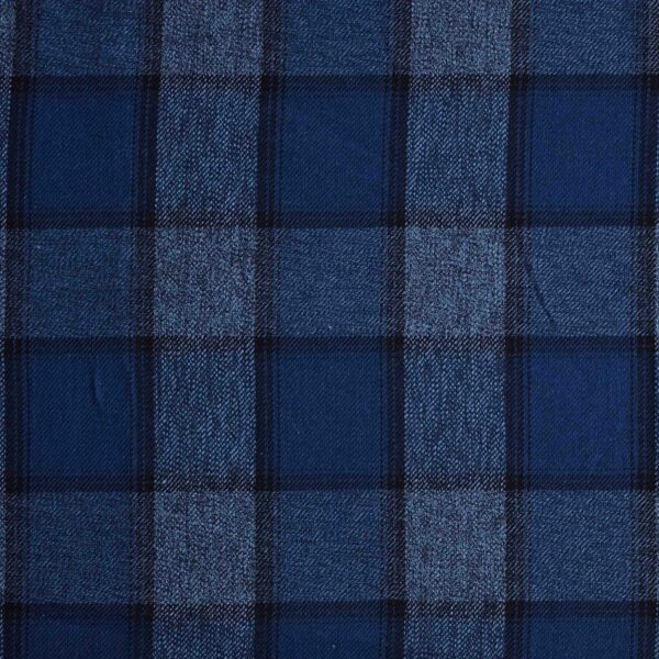 Cotton Blue Checked Yarn Dyed Fabric