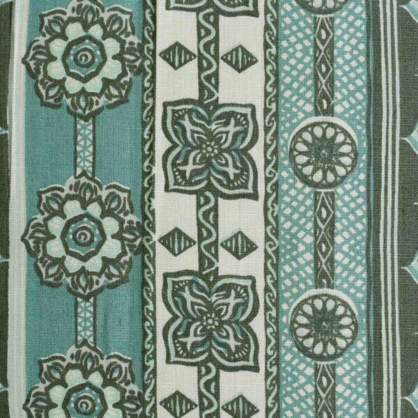 Cotton Linen Multi Color Print Fabric