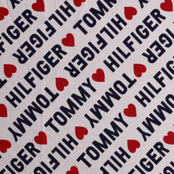 Modal Heart Print Woven Fabric