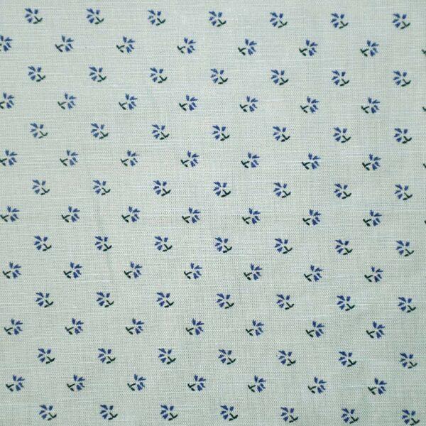 Flower Print Cotton Hemp Woven Fabric