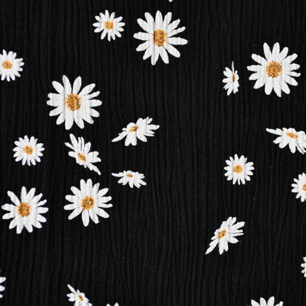 Cotton White Color Flower Print Fabric