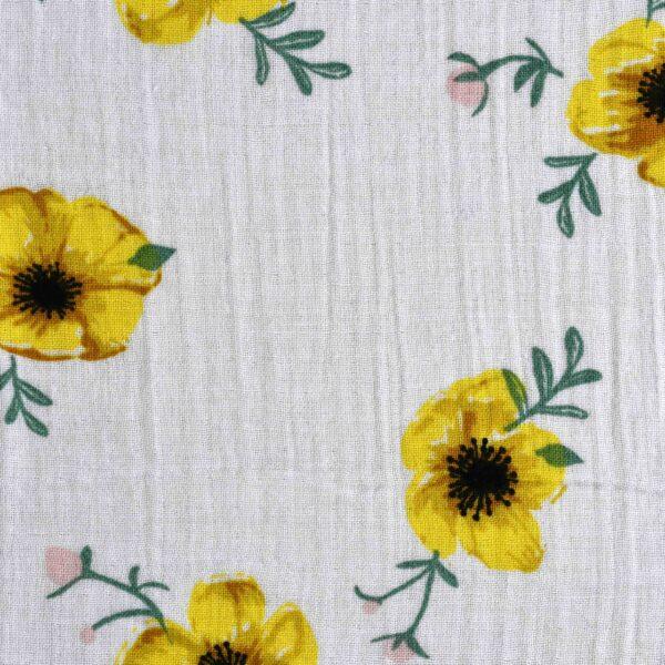 Cotton Double Cloth Flower Print Fabric
