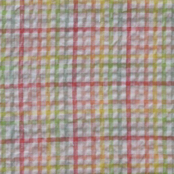 Multi Color Checked Woven Fabric