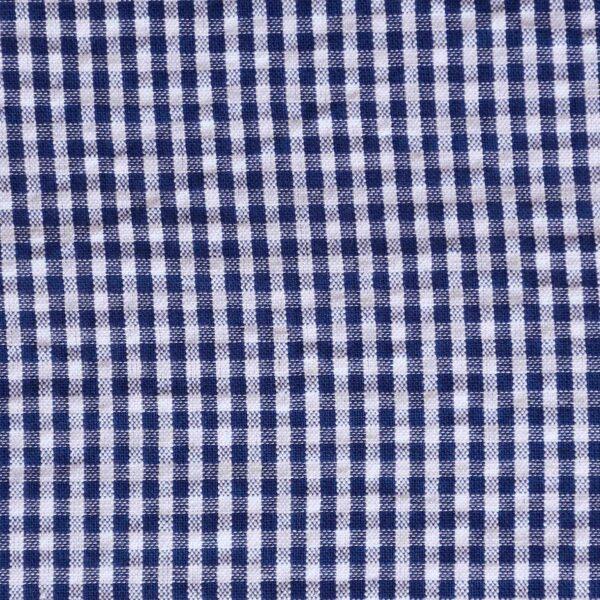 Cotton Blue Small Check Yarndyed Fabric