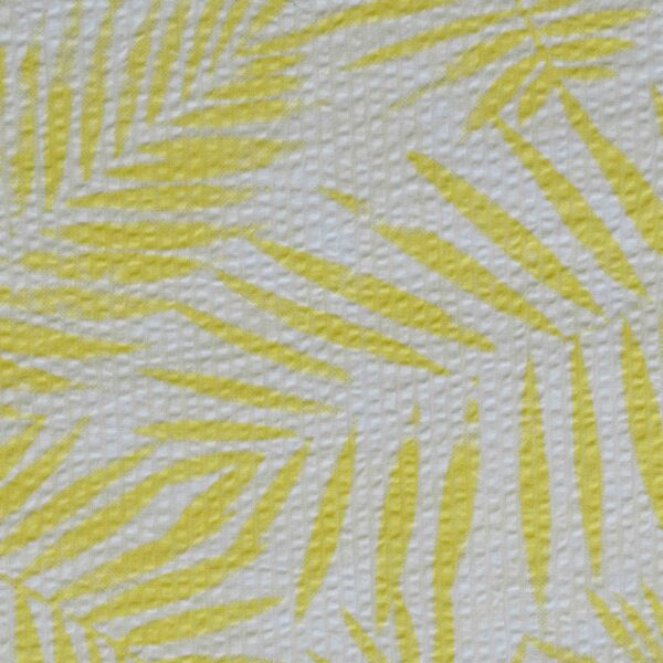 Cotton Yellow Leaf Print Woven Fabric