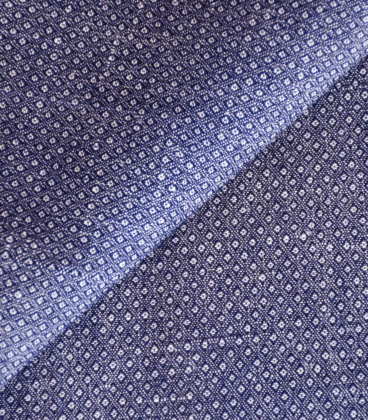 Blue Color Yarndyed Woven Fabric